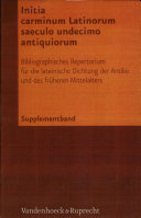 Initia carminum Latinorum saeculo undecimo antiquiorum