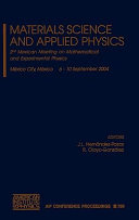 Materials Science and Applied Physics Book