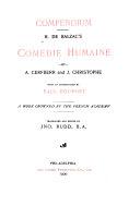 Pdf Compendium. H. de Balzac's Comédie Humaine