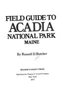 Fieldguide to Acadia National Park  Maine