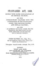 The Stannaries Act 1869