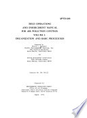 Field Operations and Enforcement Manual for Air Pollution Control