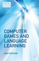 Computer Games and Language Learning Pdf/ePub eBook