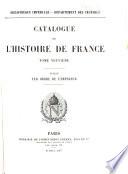 Catalogue de l'histoire de France: Histoire locale (suite) Histoire des classes. Histoire généalogique. Biographie