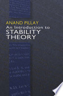 An Introduction to Stability Theory Book