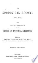 The Zoological Record Book