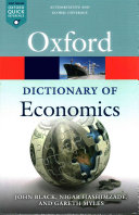Cover of A Dictionary of Economics
