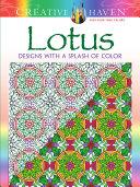 Creative Haven Lotus  Designs with a Splash of Color
