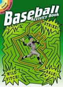 Baseball Activity Book
