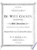 ... History of De Witt County, Illinois