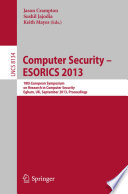 Computer Security -- ESORICS 2013