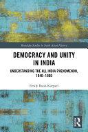 Democracy and Unity in India Pdf/ePub eBook