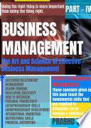 BUSINESS MANAGEMENT   PART   IV