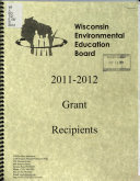 The Wisconsin Environmental Education Board     Grant Recipients