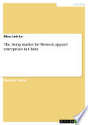 The rising market for Western apparel enterprises in China