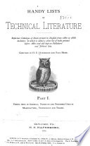 Handy Lists of Technical Literature