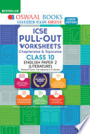 Oswaal ICSE Pullout Worksheets Chapterwise & Topicwise, Class 10, English Paper 2 (Literature)