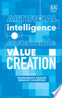 Artificial Intelligence for Sustainable Value Creation