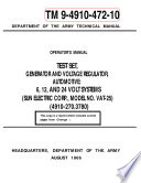 Manuals Combined  150  U S  Army Navy Air Force Marine Corps Generator Engine MEP APU Operator  Repair And Parts Manuals