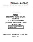 Manuals Combined: 150+ U.S. Army Navy Air Force Marine Corps Generator Engine MEP APU Operator, Repair And Parts Manuals
