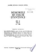 Memoriile Secțiilor Științifice