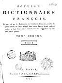 Nouveau dictionnaire français, composé sur le Dictionnaire de l'Académie française...