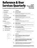 Reference User Services Quarterly Book PDF