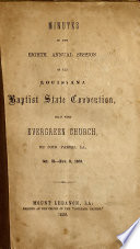 Annual of the Louisiana Baptist Convention in Annual Session