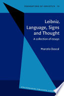 Leibniz  Language  Signs  and Thought