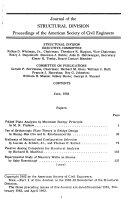 Journal  Proceedings of the American Society of Civil Engineers