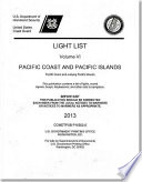 Light List 2013 V 6 Pacific Coast And Outlying Pacific Islands
