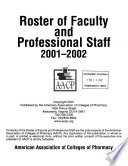 Roster of Faculty and Professional Staff