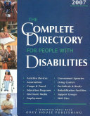 The Complete Directory for People with Disabilities Book