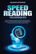 Speed Reading Techniques Pdf/ePub eBook