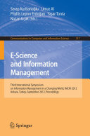 E Science and Information Management