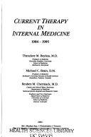 Current Therapy in Internal Medicine  1984 1985