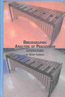 Bibliographic Analysis of Percussion Literature Book