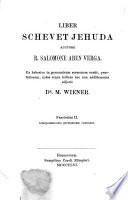 Das Buch Schevet Jehuda