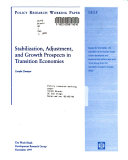 Stabilization  Adjustment  and Growth Prospects in Transition Economies
