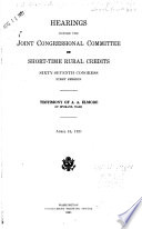 Short-time Rural Credits