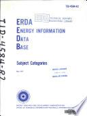 Erda Energy Information Data Base