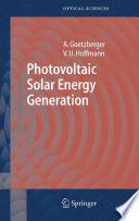 Photovoltaic Solar Energy Generation Book PDF