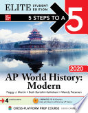 5 Steps to a 5  AP World History  Modern 2020 Elite Student Edition