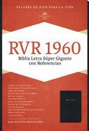 Rvr 1960 Biblia Letra Super Gigante, Negro Imitacion Piel Con Indice