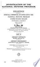Investigation of the National Defense Program  Aircraft contracts Hughes Aircraft Co   Aircraft procurement activities of Gen  Bennett E  Meyers  Nov  5 8  10 15  17 22  1947