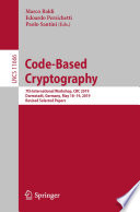 Code Based Cryptography