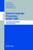 Natural Language Processing     IJCNLP 2004