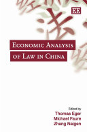 Economic Analysis of Law in China