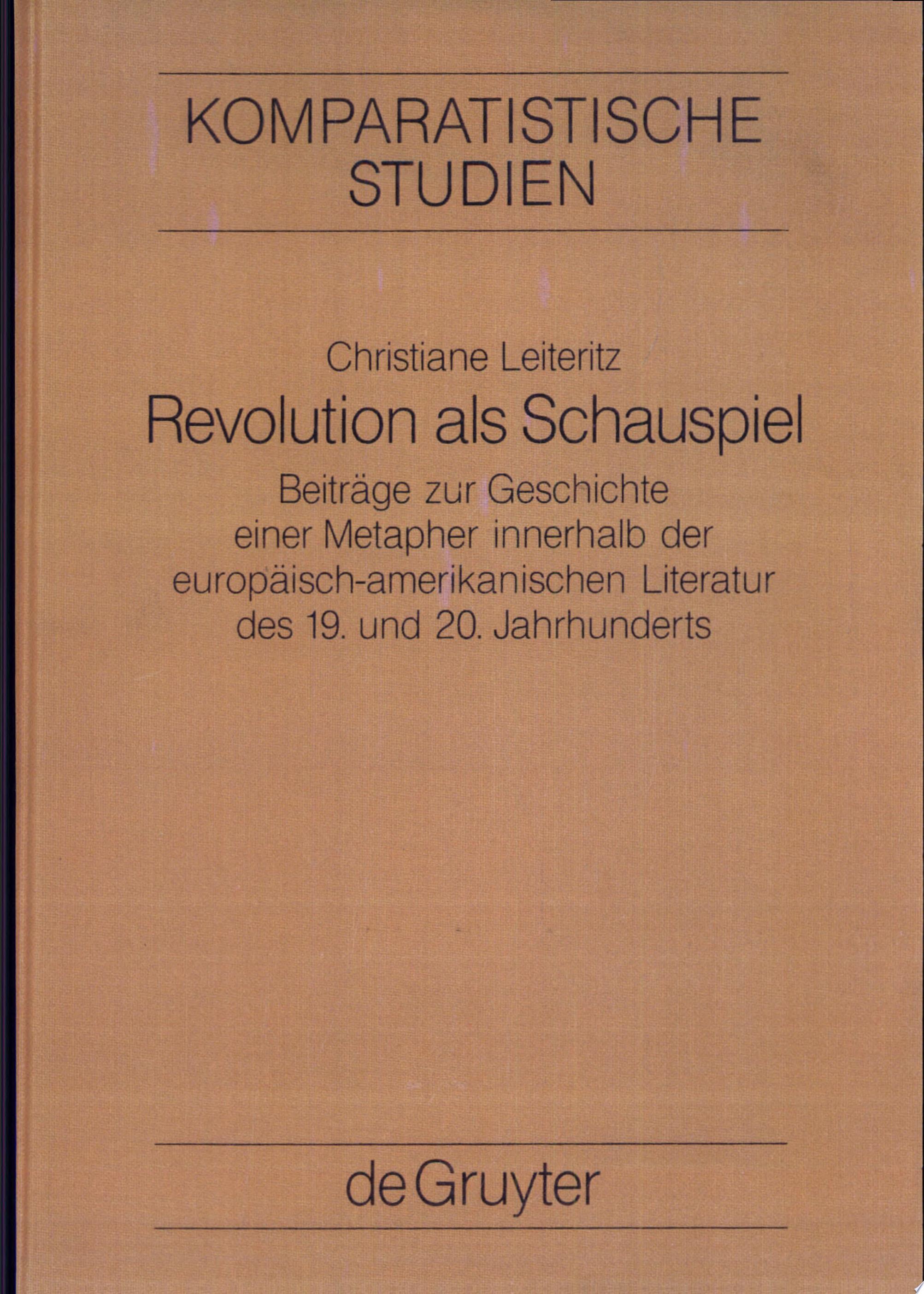 Revolution als Schauspiel