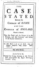 The Case Stated, Between the Church of Rome and the Church of England